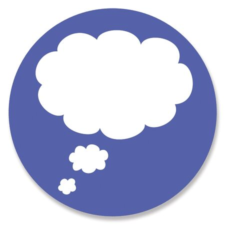 dreaming: Dreaming cloud chat blue circular button Stock Photo