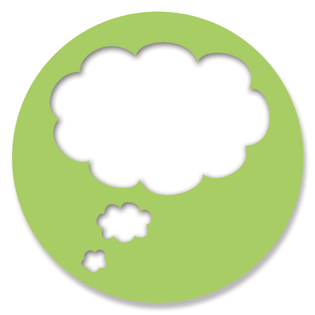 chats: Dream cloud chat button of green circle