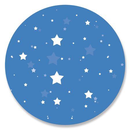 night: Night sky circle