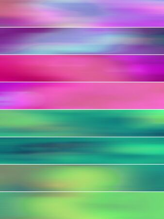 sequences: Colorful blurs abstract background banners set