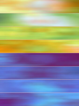 sequences: Green and blue colorful blurs abstract backgrounds banners set
