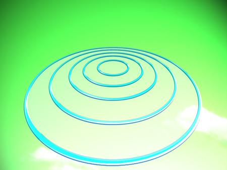 UFO green illustration Reklamní fotografie