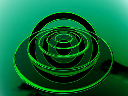 dimension: Green target abstract base to travel to other dimension