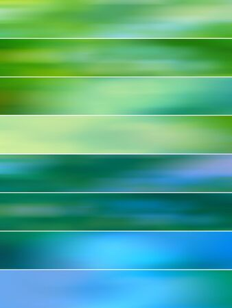 sequences: Green and blue shades abstract backgrounds for banners
