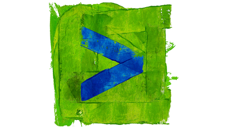 advance: Forward or advance arrow button of colors paint