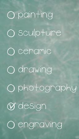 disciplines: Art disciplines list to choose