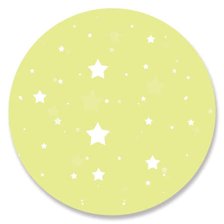 pale green: Pale green circle with stars