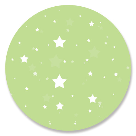 hole in one: Decorative green circle with stars