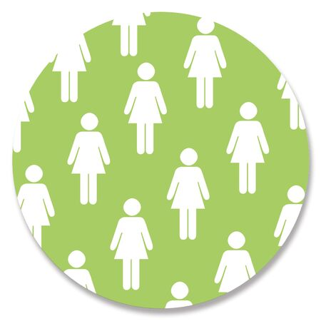 aligned: Woman shape repited in green circle