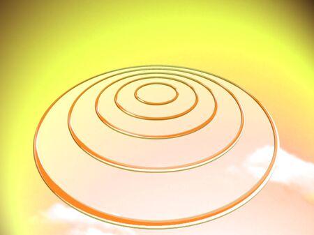 Luminous UFO illustration