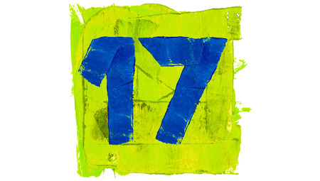 17: Number 17 of colourful paint