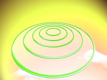 targets: Circular UFO or targets base abstract image