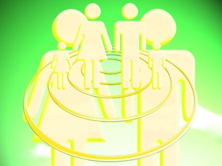 Family creation colorful conceptual image illustration