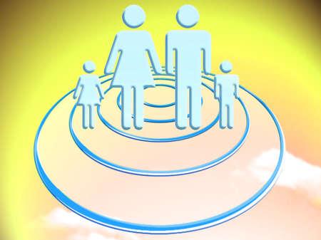 Family travel on circular UFO ship
