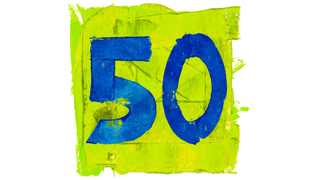 50 number: Number 50 of vibrant paint colors
