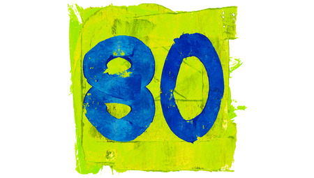 80: Number 80 of colourful paint colors