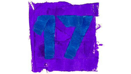 17: Number 17 of blue and purple paint colors