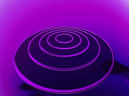 circles: Purple UFO circles abstract background Stock Photo