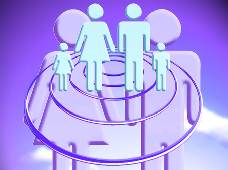 abducted: Heterpsexual couple with family plans conceptual stock image illustration Stock Photo