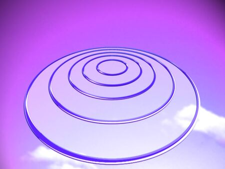 targets: Purple targets projecting base abstract background with circles
