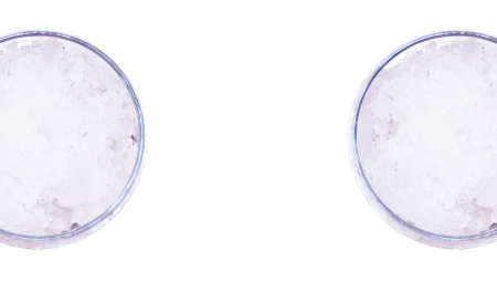 encounter: Couple of glasses encounter isolated on white abstract background Stock Photo