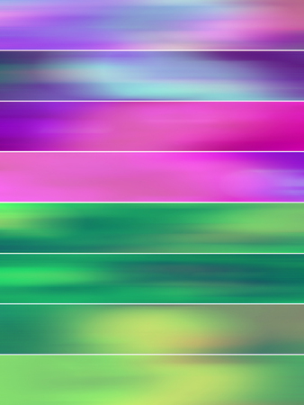 sequences: Pink and green juvenile blurs abstract backgrounds banners set Stock Photo