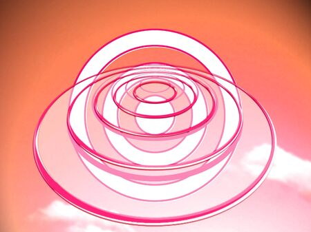 circles: Dimensions red circles abstract background