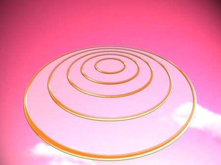 to foresee: Pink UFO or circles target base abstract background