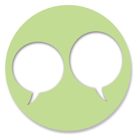 hole in one: Green circular web button for chat Stock Photo