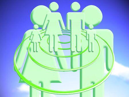 Couple plan for a family conceptual stock image illustration Reklamní fotografie