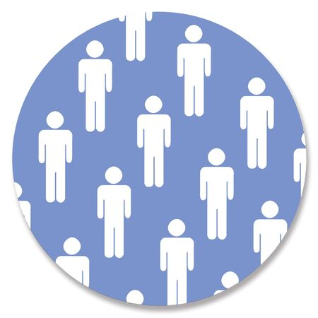 aligned: Men shapes in blue circle
