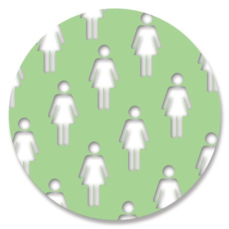 aligned: Woman shape pattern in green circle