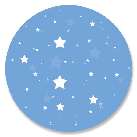 starry night: Starry blue night circular background Stock Photo