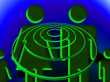 trance: Family trance conceptual illustration at night
