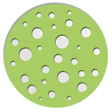 button mushroom: Green circle with circles for decoration