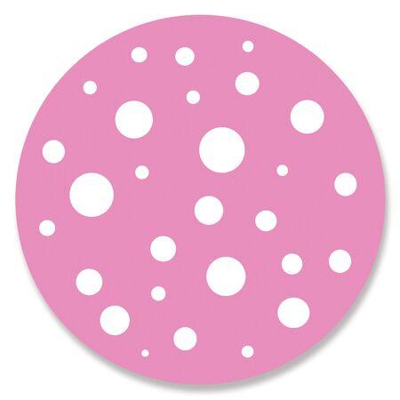 button mushroom: Circular stains on pink circle
