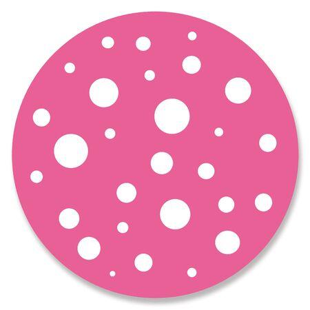pinkish: Fuchsia circle with spots