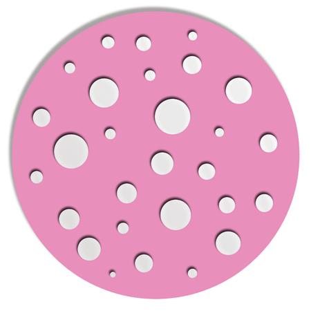 pinkish: Pink circle with dots Stock Photo