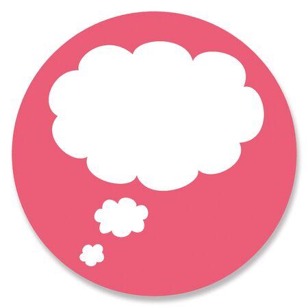 pinkish: Empty dreams cloud in pink circle