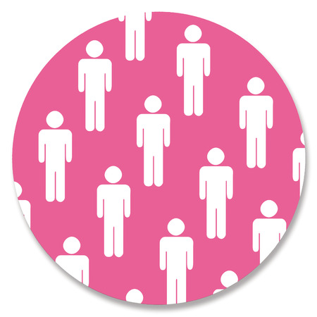 genders: Gay circle in pink color with men silhouettes