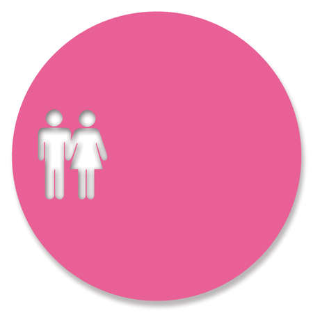heterosexual couple: Heterosexual couple in pink circle
