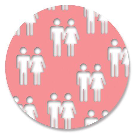 pinkish: Couples in pink circle