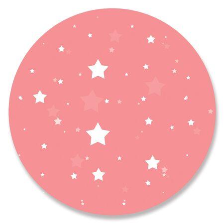 pinkish: Pink circle with white stars