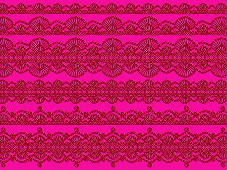 weaved: Red laces demale delicacy on pink background