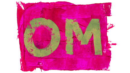 the pink paint: Om on pink paint