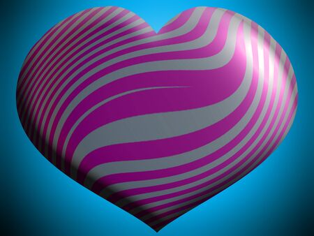 aniversaries: Striped heart on blue