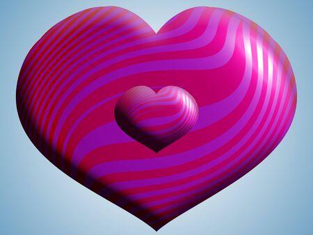 corazones azules: Dos corazones globos tamaños de cerca