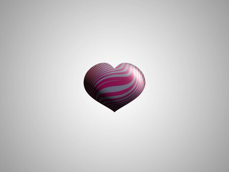 helium: Helium heart on grey sky Stock Photo