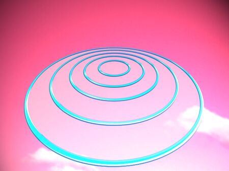 targets: UFO shape circles of targets base on pink background