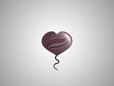 spermatozoid: Small heart shaped balloon in grey background